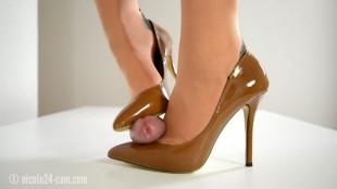 high heel footjob video