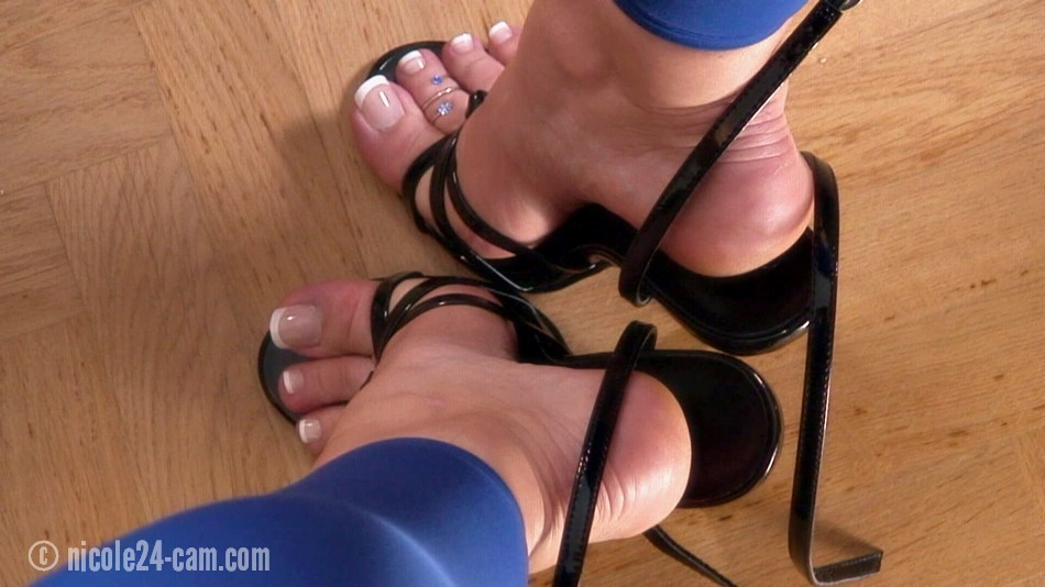 Sexy high heels foot job