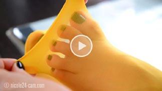 nylon socks video